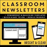 Classroom Newsletter Templates: Bright and Basic