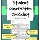 Classroom Observation Checklist 2 - Teacher or Administrator