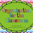 Classroom Organizational Labels  - in color and ink-saving B&W!