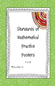Classroom Posters of the 8 Mathematical Practices