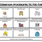 Classroom Procedures Tic-Tac-Toe - Free Download for Begin