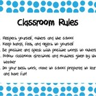 Classroom Rules - For All Ages/Grades!