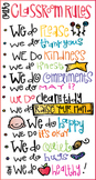Classroom Rules Freebie by Melonheadz
