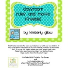 Classroom Rules and Motto Freebie