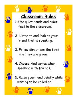 Classroom Rules poster jpg