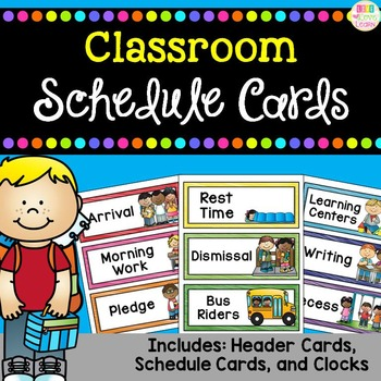 http://www.teacherspayteachers.com/Product/Classroom-Schedule-Cards-1351147