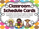Classroom Schedule Cards - Rainbow Dots
