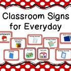 Classroom Signs for Everyday