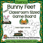 Classroom Sized Bunny Feet Sight Word Game Board