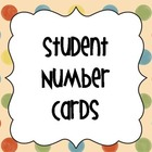 Classroom Student Number Tags