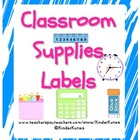 Classroom Supply Labels (Teal Splatter)