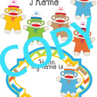 Classroom Theme - Sock Monkey (Name Tags, Clip Art, Months