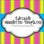 {Editable} Classroom Times Monthly Newletter, with Summer