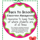 Classroom management: A resource to keep track where stude