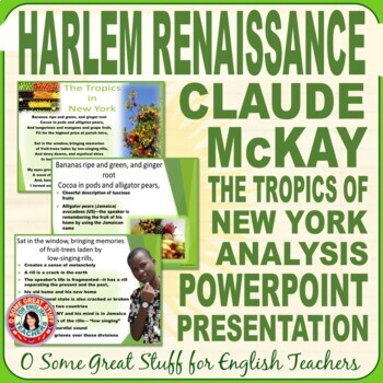 "Claude McKay ""The Tropics of New York"" Powerpoint"