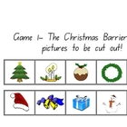 Clever Classroom's Christmas Barrier Games - 9 pages