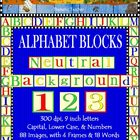 Clip Art Alphabet Blocks Neutral Backgrounds