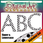 Clip Art: Alphabet Set, Upper and Lowercase