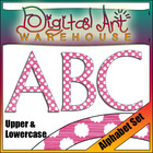 Clip Art: Alphabet Set, Upper and Lowercase Font Fonts