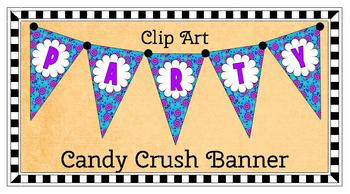 CLIP ART BANNER: CANDY CRUSH - TeachersPayTeachers.com
