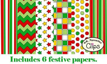 Clip Art ~ Celebrate the Season Papers and Labels (Freebie