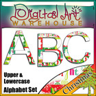 Clip Art: Christmas Alphabet Set