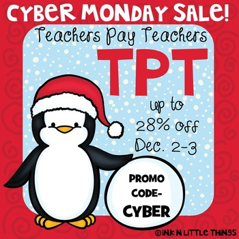 Clip Art Freebie - Cyber Monday Sale Image {Ink n Little T