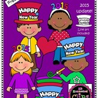 Clip Art Freebie - Happy New Year Kids
