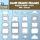 Clip Art: Hand Drawn Frames, Borders, Headers - 20 Fun Dec