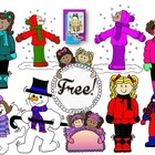 Clip Art~ Snow Day Freebie Set