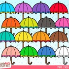 Clip Art - Umbrellas- weather-themed clipart