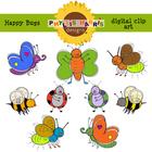 Clip Art for Teachers - Happy Bugs