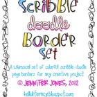 Clip Art:Scribble Doodle Borders/Frames Bundle (Set of 9)