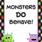 Clip Chart - Monsters Theme (Special Order)