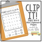 Clip It! Star Word Practice