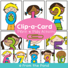 Clip a Card - Math Center Game for Numeral Identification