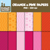 ClipArt: FREE Orange and Pink Fun decorative backgrounds -