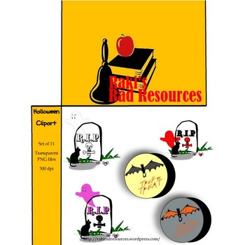 Clipart - Halloween Graphics to use in Your Projects