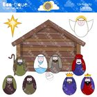 Clipart- Nativity Clipart. Christmas Clipart. Christmas Na