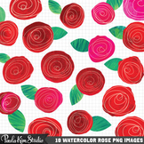 Clipart - Watercolor Roses