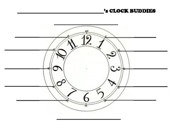Clock Buddies Partner Worksheet