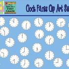 Clock Faces Clipart {Graphics for Commercial Use}