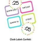 Clock Labels Confetti