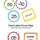 Clock Labels Flower Edge