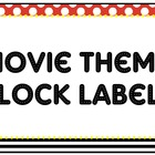 Clock Labels – Movie Theme