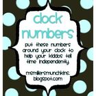 Clock Numbers - 3 Styles Zip file