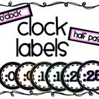 Clock Numbers/Labels {Freebie}