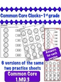 Clocks - 1st Grade Common Core 1.MD.3