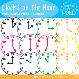 Clocks on the Hour - Graphics / Clipart for Teaching
