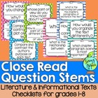 Question Stems for Close Reads of Literature & Information